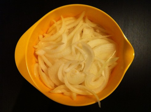 Raw Sliced Onions